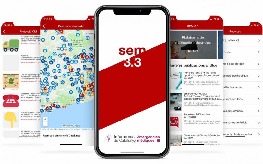 L'app per als professionals de les emergències SEM 3.3 s'actualitza amb nous continguts específics per al COVID-19
