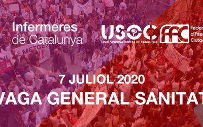 Totes les treballadores de la sanitat pública i privada convocades a vaga el 7 de juliol