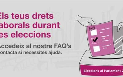Consulta els teus drets laborals durant les eleccions del 14F