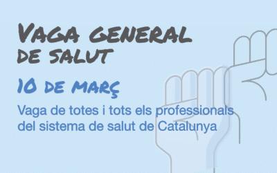 Convocada vaga per a totes les treballadores i treballadors del sistema de salut de Catalunya