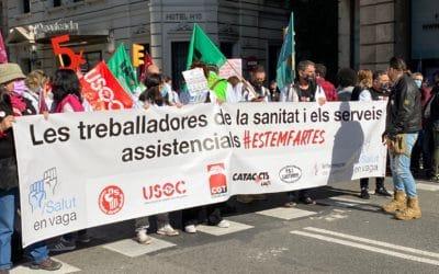 Gran èxit de la primera vaga inclusiva de totes les treballadores i treballadors del sistema de salut i dels serveis assistencials de Catalunya