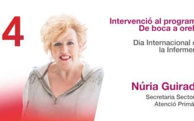 Intervenció de Núria Guirado, Secretaria Sectorial d'Atenció Primària, al De boca a orella de Ràdio4.